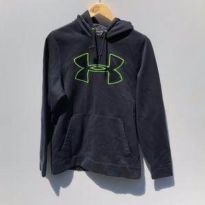 Under Armour Black Hoodie Sweatshirt Loose  Small